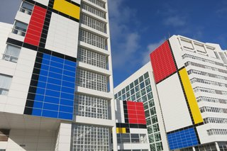 6 Colorful, Geometric Buildings Inspired by Piet Mondrian