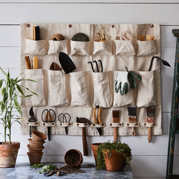 The Floral Society Multi-Purpose Canvas Wall Organizer