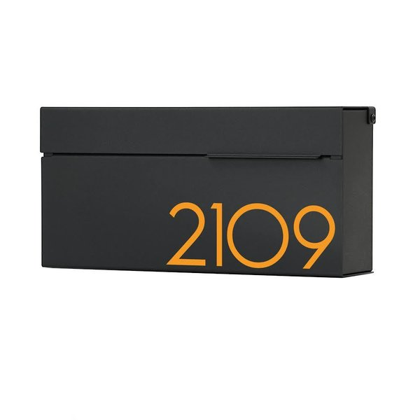 Vsons Design Louis B Black Wall Mounted Mailbox
