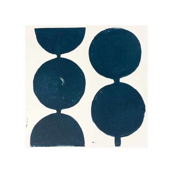 Modern Circles in Midnight Blue by Stacy Rajab Print