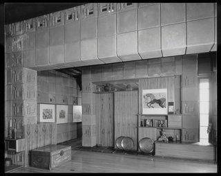 The interior of the Samuel Freeman house.