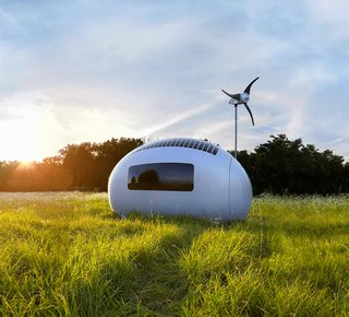 The Ecocapsule is completely self-sufficient. It can be used as a cottage, pop-up hotel, caravan, mobile office, or research station.