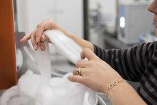 Products made of Spinnova fibers can be fed back into the pulping process to be turned back into reusable microfibrillated cellulose—without sacrificing quality.
