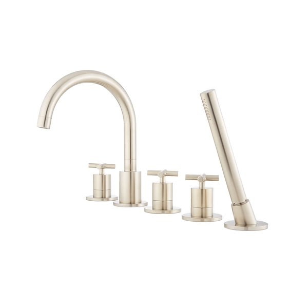 Signature Hardware Mounted Tub Faucet and Shower Head