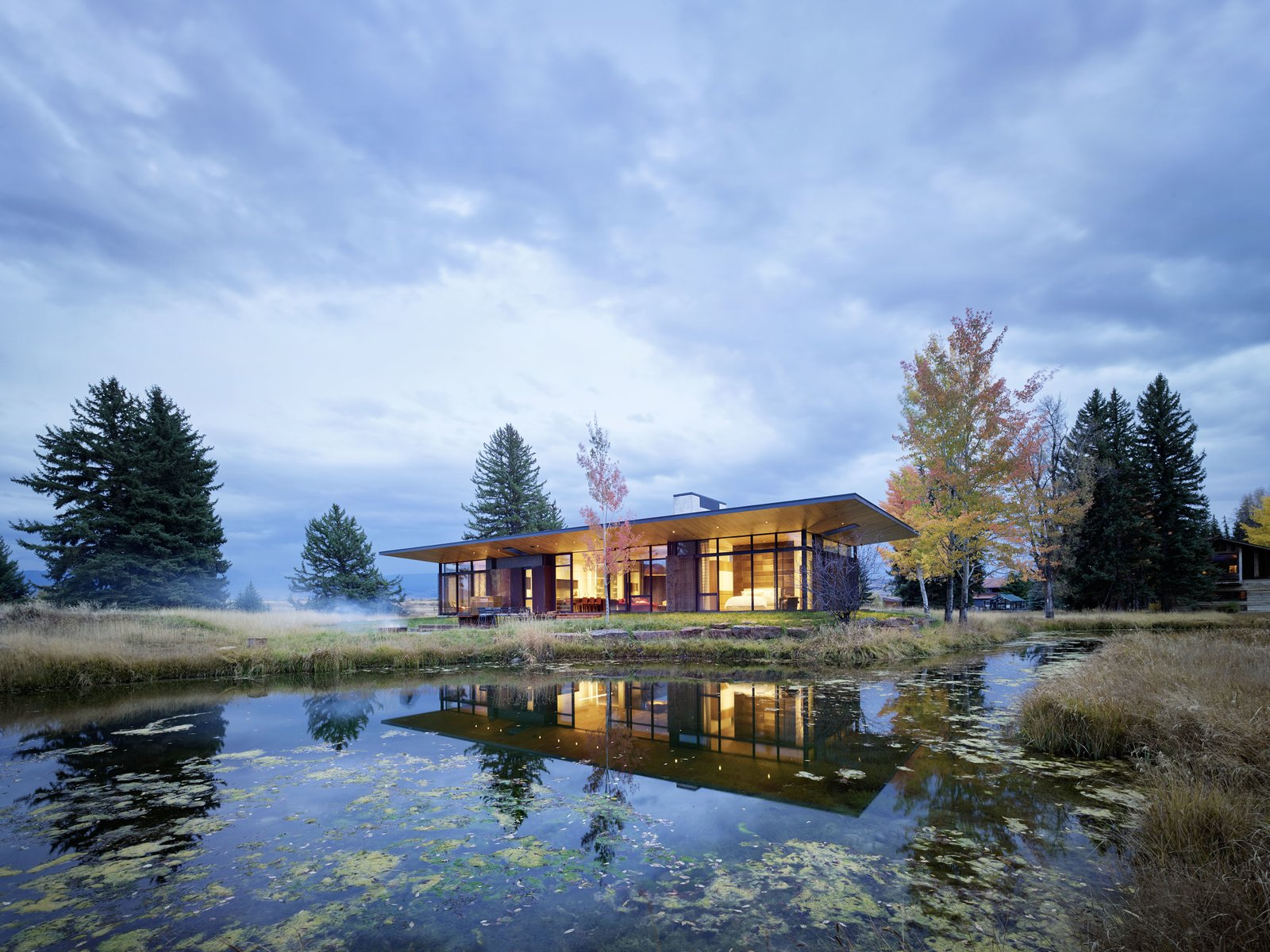 Photo 1 of 11 in A Museum-Like Glass Pavilion Brightens a Sprawling Jackson Hole Estate