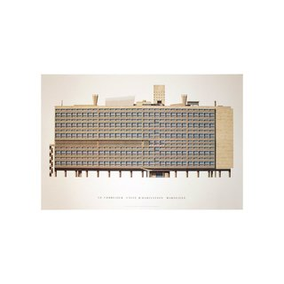 Unite d'Habitation, Marseille by Le Corbusier Print