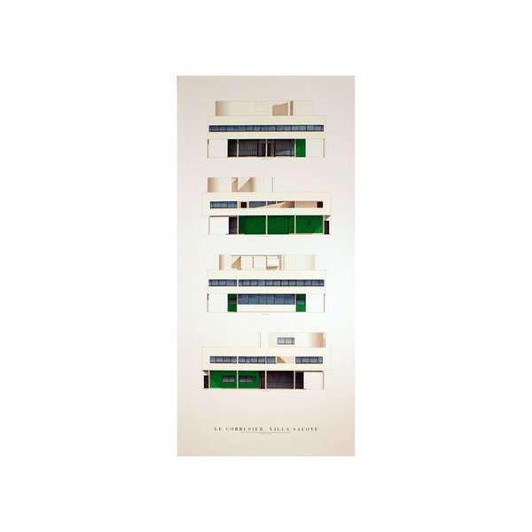 Villa Savoye, Four Elevations by Le Corbusier Print