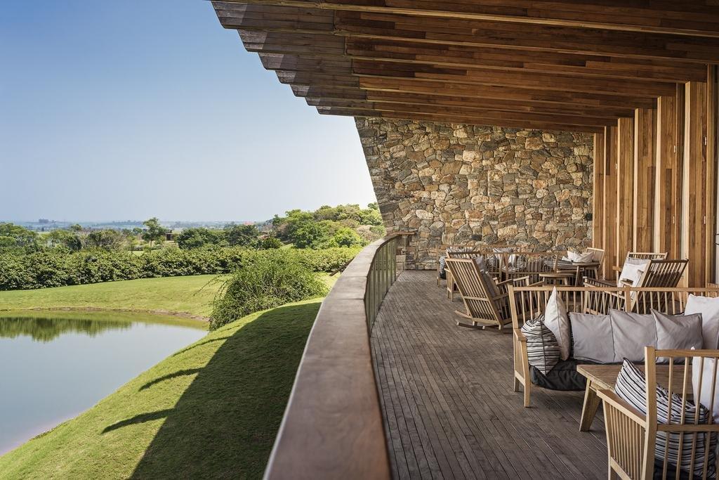 Outdoor, Grass, and Wood Patio, Porch, Deck  Fasano Boa Vista