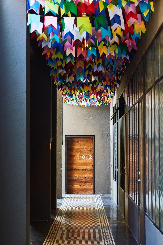 Hallway and Porcelain Tile Floor  Mama Shelter Rio De Janeiro