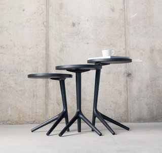 The Charcoal Ash Tripod Table