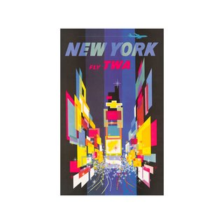 Fly TWA: New York Print