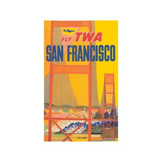Fly TWA: San Francisco Print