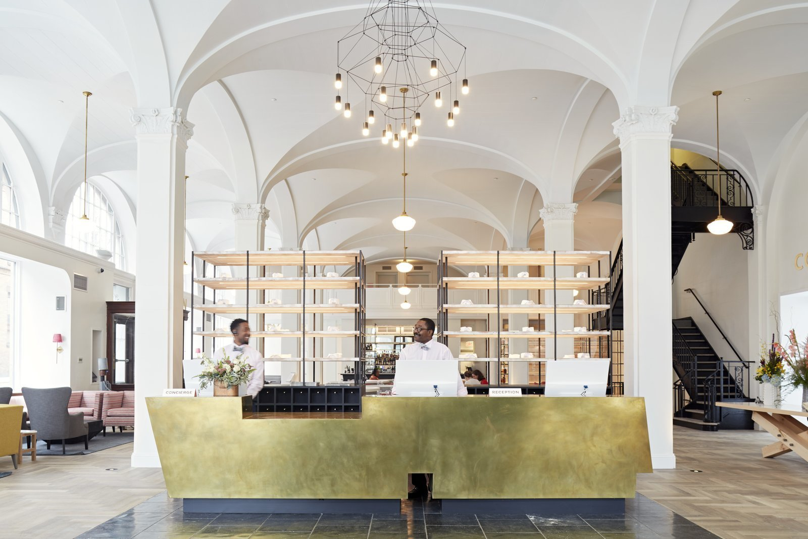 Dining Room, Pendant Lighting, and Bar  Quirk Hotel