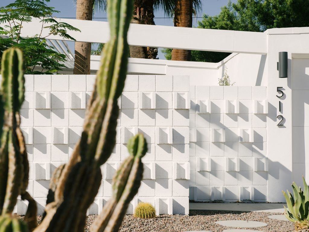 Outdoor, Concrete Fences, Wall, Shrubs, Hardscapes, Pavers Patio, Porch, Deck, Concrete Patio, Porch, Deck, Small Patio, Porch, Deck, and Front Yard  Le Mode PS