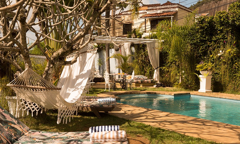 Outdoor, Swimming Pools, Tubs, Shower, and Large Patio, Porch, Deck  Mama Ruisa Boutique Hotel