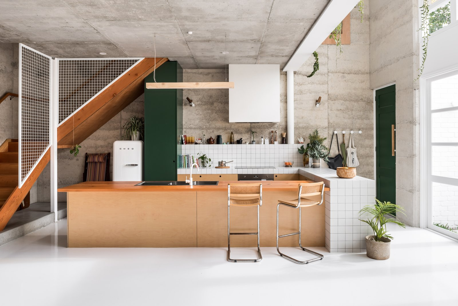 Photo 1 of 6 in Sixties Style Is Brought Back to Life in This Sustainable Kitchen