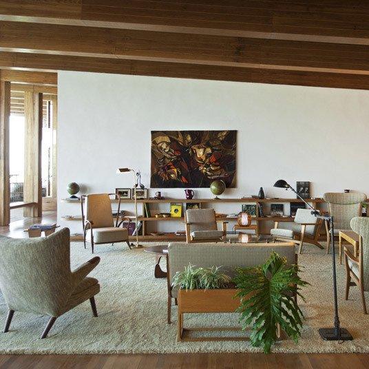 Living Room, Floor Lighting, Sofa, and Chair  Fasano Boa Vista