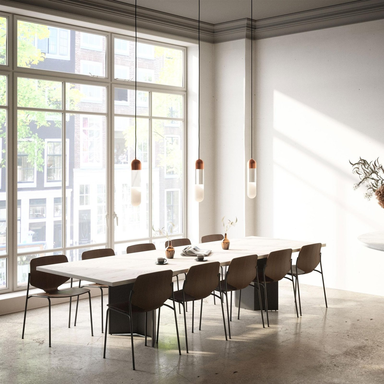 Dining Room, Concrete Floor, Table, Chair, and Pendant Lighting  Best Photos from 15 Pieces You Should Snap Up Before Lumens' Sale Ends This Sunday