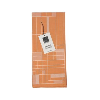 Frank Lloyd Wright Oak Park Woven Jacquard Tea Towel