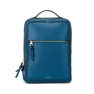 Kaya Faux Leather Laptop Backpack