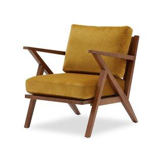 Drew Barrymore Flower Home Velvet Mid-Century Accent Chair