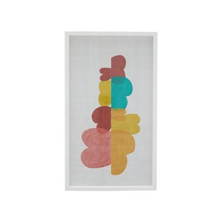 Drew Barrymore Flower Home Multi-Colored Abstract Framed Wall Art