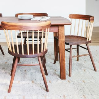 Shigouri Woodworking Dining Chair - Walnut