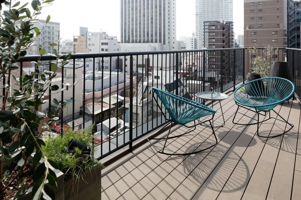 Outdoor and Small Patio, Porch, Deck  Wired Hotel Asakusa