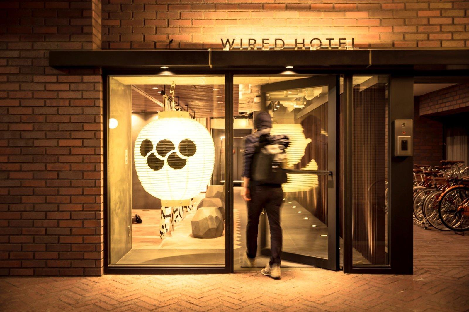 Exterior and Brick Siding Material  Wired Hotel Asakusa