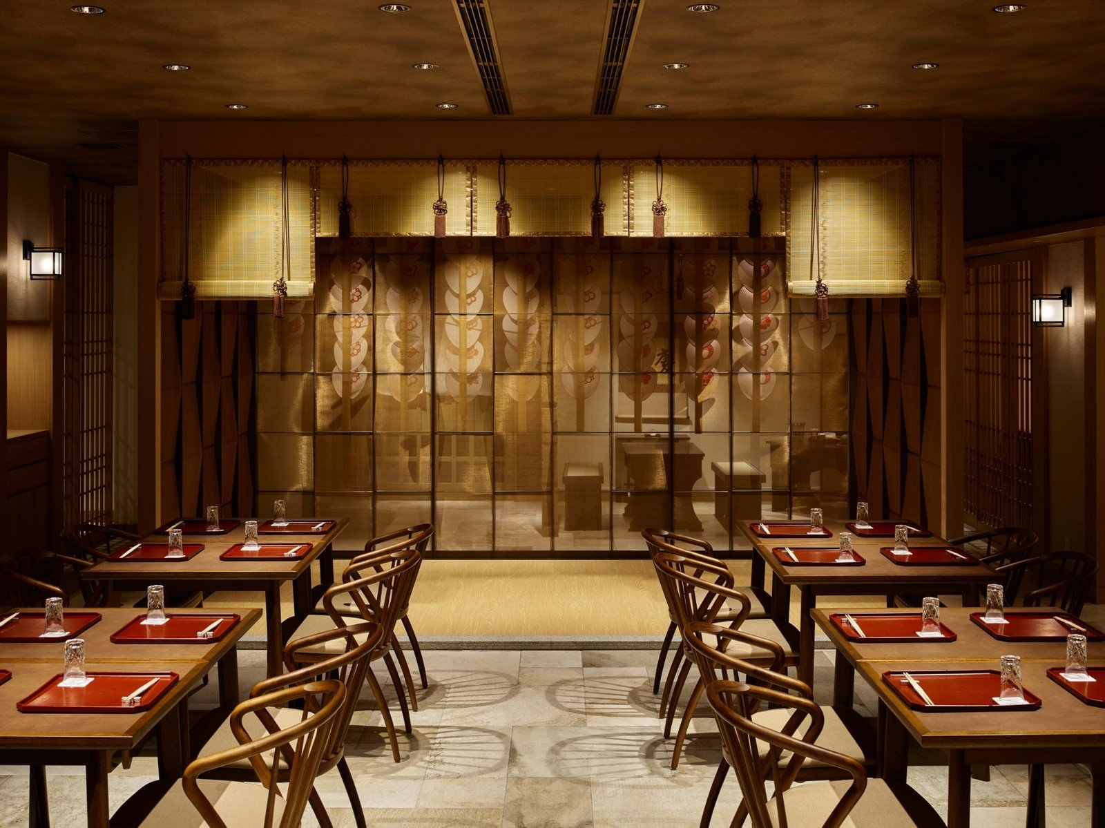 Dining Room, Recessed Lighting, Chair, and Table  Hotel The Celestine Kyoto Gion