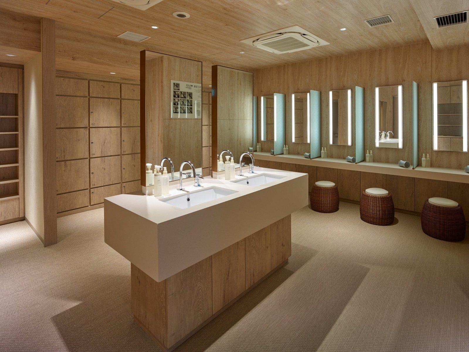 Bath Room, Carpet Floor, Recessed Lighting, and Undermount Sink  Hotel The Celestine Kyoto Gion