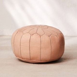 Urban Outfitters Traditional Leather Pouf