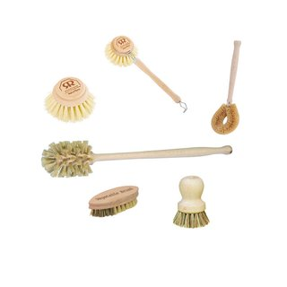 Redecker Beechwood Kitchen Cleaning Brushes (Set of 6)