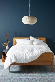 Anthropologie Stitched Linen Duvet Cover
