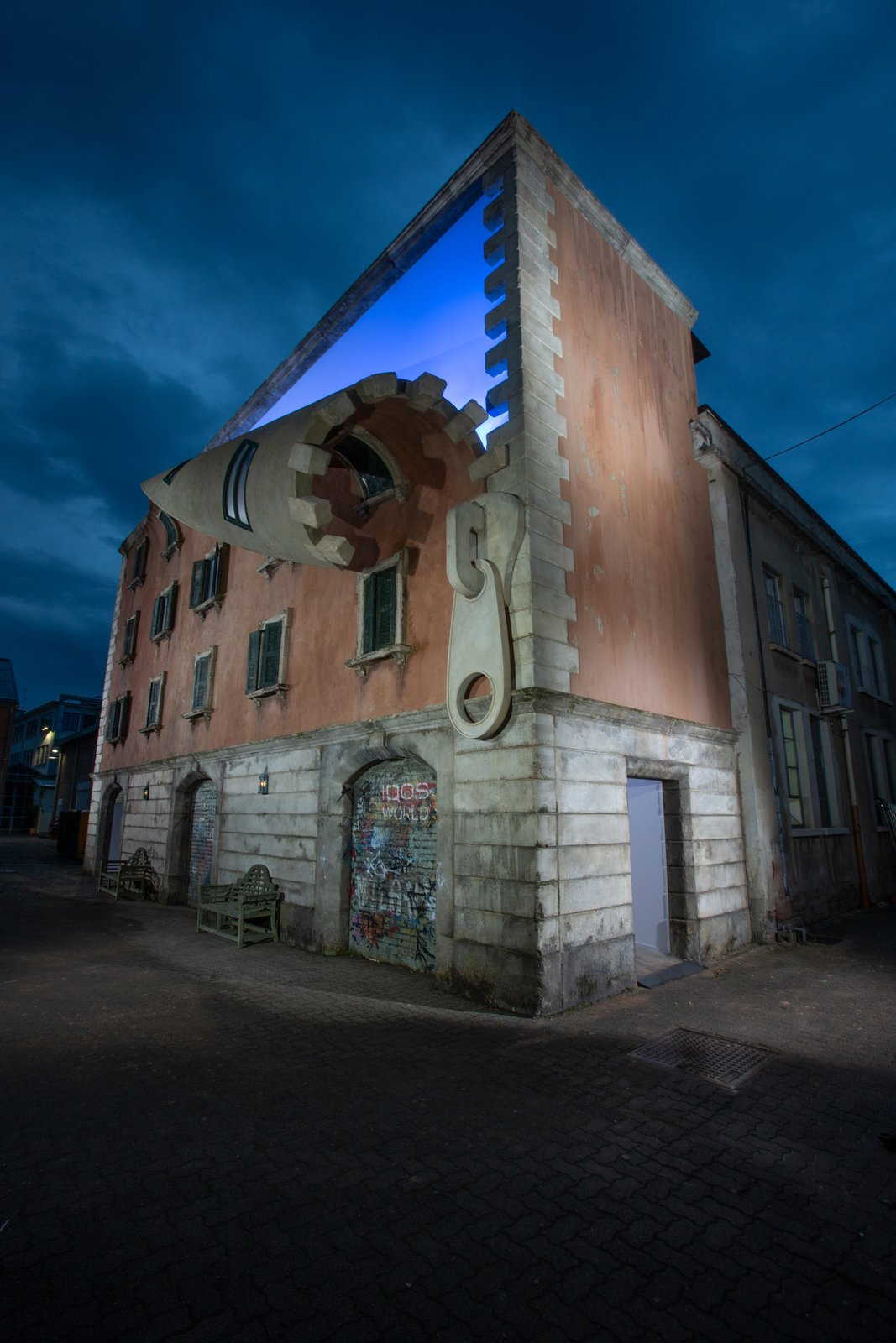 British Artist Alex Chinneck Unzips a Building in Milan