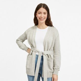 Everlane Soft Cotton Wrap Cardigan