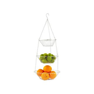 The Container Store Chrome 3-Tier Hanging Basket