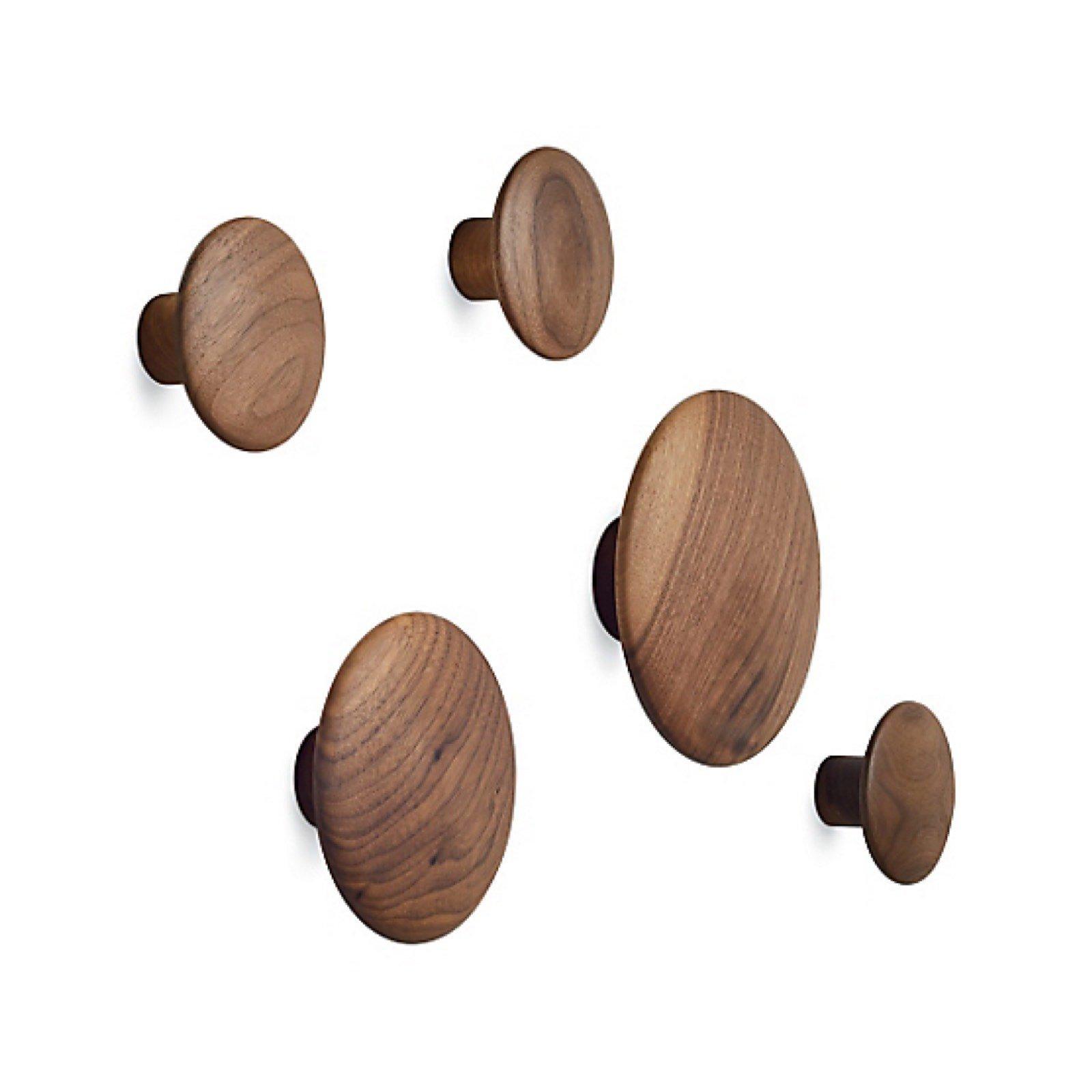 Muuto Set of 5 Wood Coatrack Dots