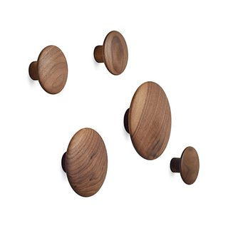 Muuto Set of 5 Wood Coatrack Dots