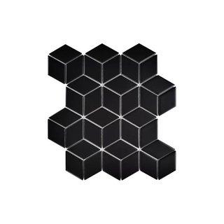 "Retro Rhombus 2"" x 3"" Porcelain Mosaic Tile"