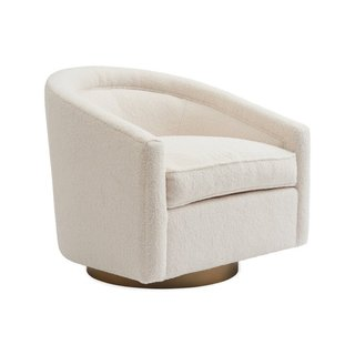 Kim Salmela Cream Benson Swivel Chair