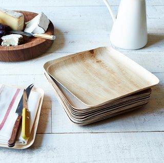 Verterra Large Compostable Wooden Plate - Set of 25