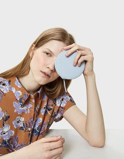 Baggu Circle Wallet in Powder Blue