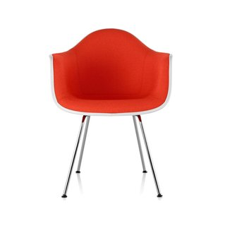Eames Upholstered Armchair with Four Leg Base