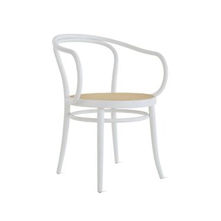 Michael Thonet Era Round Armchair with Cane Seat