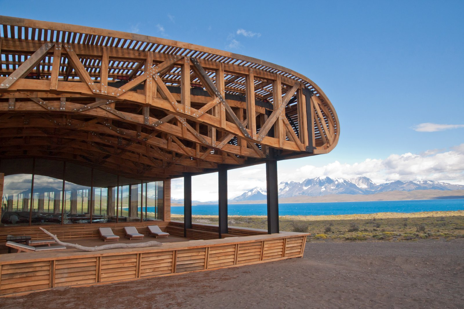 Exterior and Wood Siding Material  Tierra Patagonia Hotel & Spa