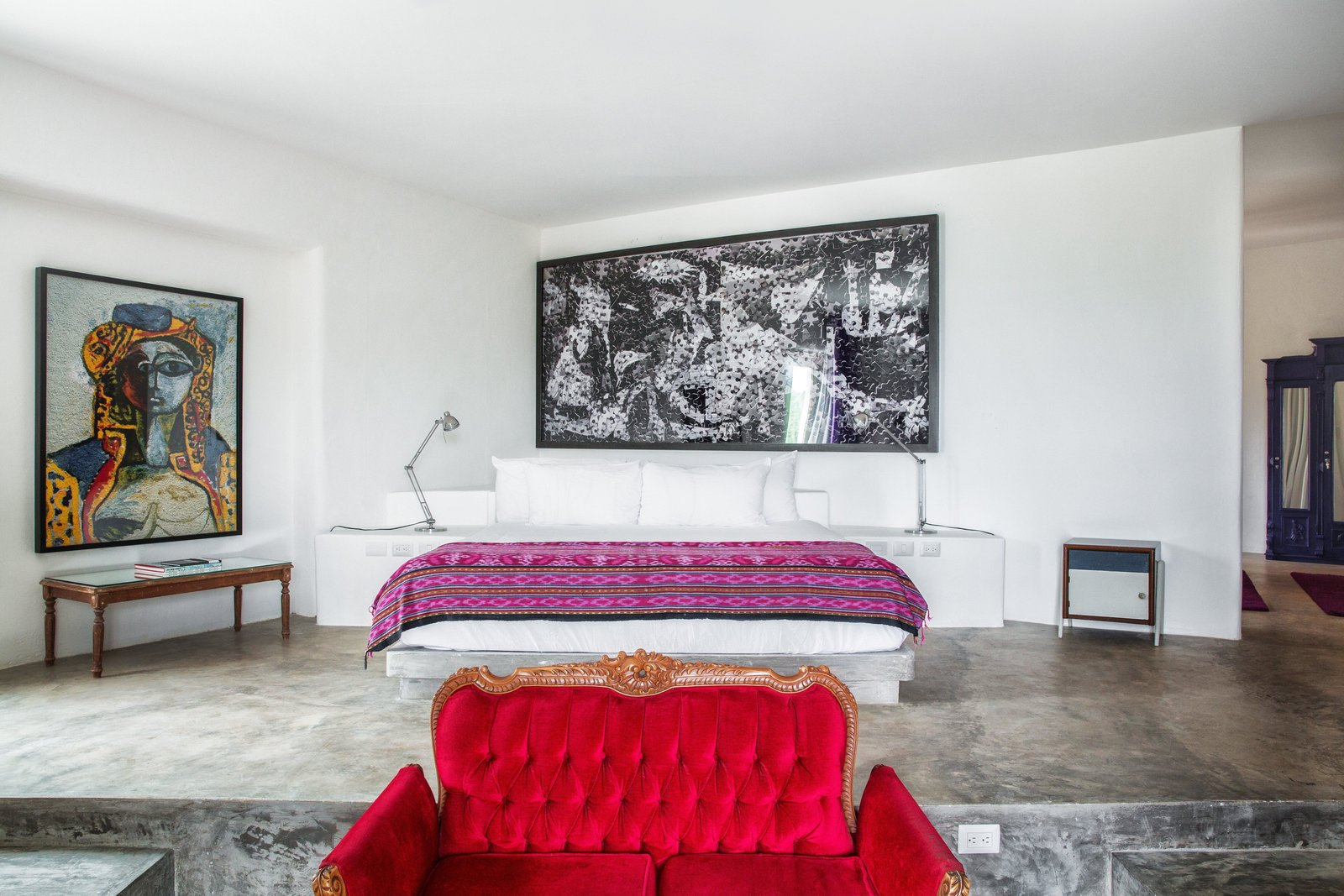 Bedroom, Bed, Night Stands, and Chair  Casa Malca