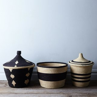 Rose & Fitzgerald Handwoven Palm Baskets
