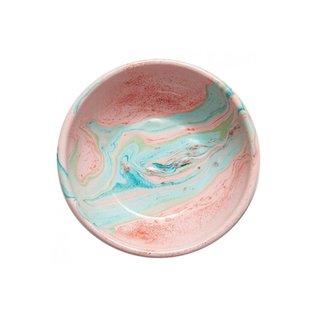 Bornn Marble Swirl Blush Enamel Plate