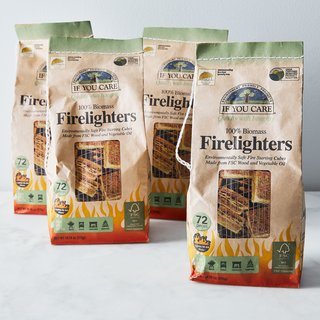 If You Care Non-GMO Vegetable Oil Firelighters, Set of 4